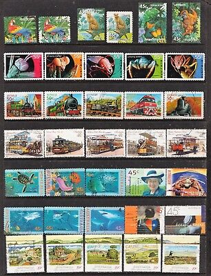 Lot Hb17 Australian Stamp Sets All Different Used