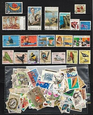 1972 To 1978 100 Australian Stamps  All Different  Used