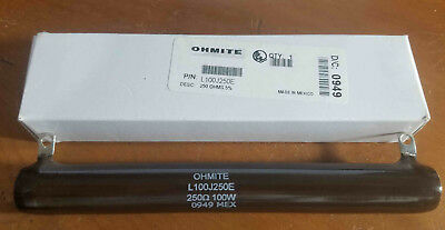 NEW Ohmite 250 Ohm 100 Watt Fixed Value, Tubular Ceramic Power Resistor 100W