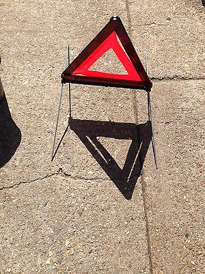 BMW Reflective Warning Triangle -Good used condition and complete with Blue case
