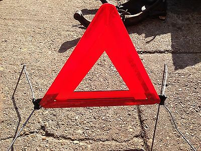 SAAB Reflective Warning Triangle -Good used condition & complete WITH case -A215