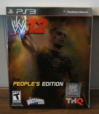 New! WWE '12 (2012) [The People's Edition] (PlayStation 3, 2011) - Rock Variant