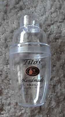 Brand New Tito's Handmade Vodka 10oz Plastic Shaker Beverage Party Drink Mixer