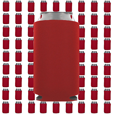 Red Beverage Insulators Can Coolers Lot of 15 Blank Drink Sleeves