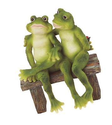George S. Chen Imports SS-G-61040 2 Frogs on Bench Garden Decoration Collecti...