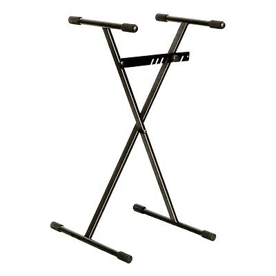 NEW Crown Heavy Duty X-Style Bar-Latch Height Adjustable Keyboard Stand (Black)