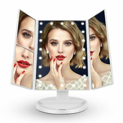 Butyface Tri-Fold 21 LED Lighted Touch Screen Tabletop Vanity Makeup Mirror