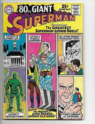 Superman 80 page Giant Issue No. 11 (June 1965) Fine+ 6.5 Reduced shipping