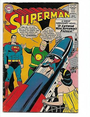 """Superman #170 """"The Triumph of Luthor and Brainiac"""" July 1964 Fine- 5.5"""