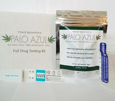 Pass A Drug Test - Full Home Drug Testing Kit - Palo Azul Tea - Total 24hr Detox