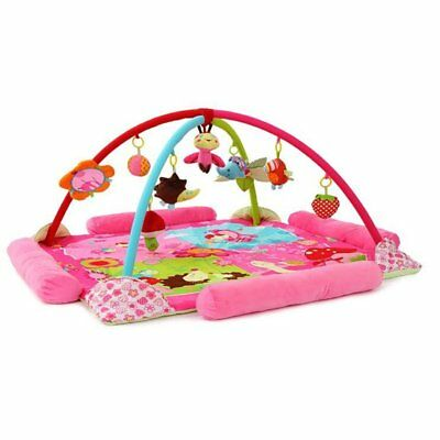 Baby Musical Toy Flower Cartoon Princess Theme Play Mat Baby  Play Gym Activity
