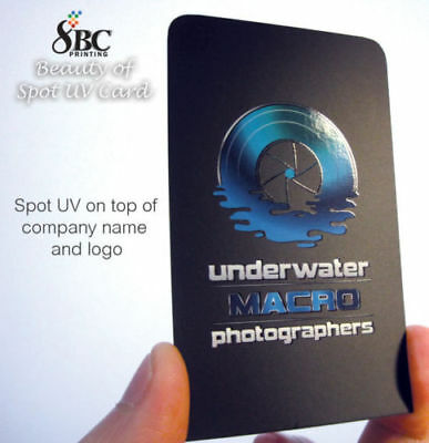 500 Spot UV Business Cards Full Colour Printing 300gsm Double Sides Laminated