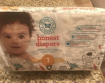 Honest Company Baby Diapers Size 1 Space (44 Count)  8-14 Pounds FREE SHIPPING!!