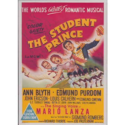 THE STUDENT PRINCE = THE SINGING VOICE OF MARIO LANZA = DVD(Australian Shipping