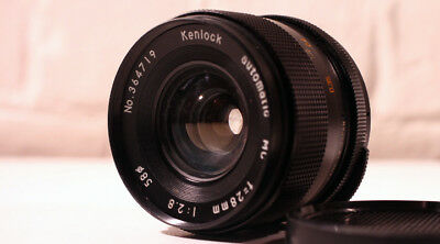 Kenlock automatic MC Vintage Lens f=28mm 1:2.8 Screw mount + front and back caps