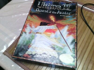 •Ultima IV: Quest of the Avatar for the ibm pc   1985 Vintage GOOD CONDT WORK