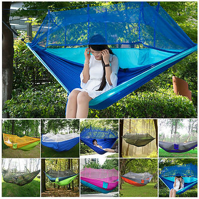 Camping Double Person Travel Outdoor Tent Hanging Hammock Bed With Mosquito Net.