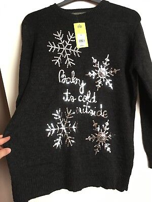 Maternity Christmas Jumper Mothercare Size M New With Tags!
