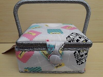 BNWT-Kittens Design-Small or Medium Fabric Covered Sewing Boxes by Hobby Gift