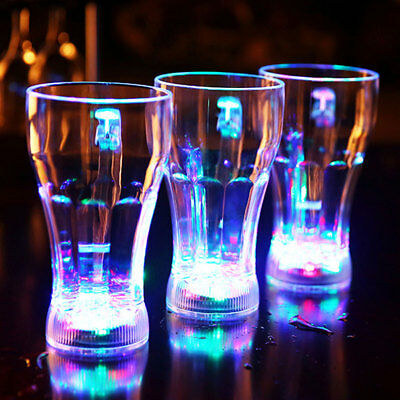 LED Flashing Glowing Water Liquid Activated Light-up Wine Glass Cup Mug Party