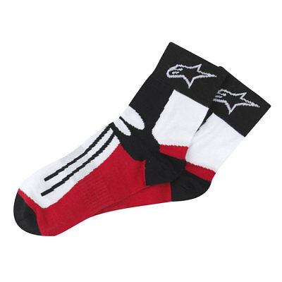 Alpinestars Racing Road Black / Red Motorcycle Motorbike Short Socks | All Sizes