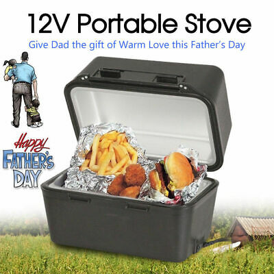 12V Portable Stove Oven Food Warmer for 4WD Car Truck Caravan Camping 3 minutes