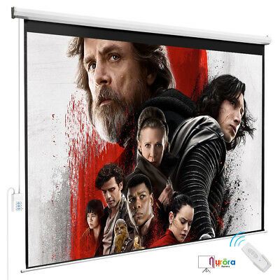 Kenwell 100''Projection 4:3 HD  Screen Electric Remote Control Movie