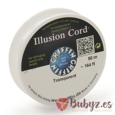 Hilo de Nailon Cristalino Illusion Cord 50m 0,50mm Transparente