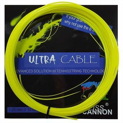 Weiss Cannon Ultra Cable Tennis String - 1.23mm / 17G - Yellow - 12m