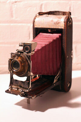 Rare Eastman Kodak Co ~ Red Folding Bellows Camera ~ Over 100 years old AMAZING!