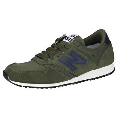 a5aa0459bdeb6 New Balance 420 Classic 70's Running Mens Green Navy Suede & Nylon Trainers