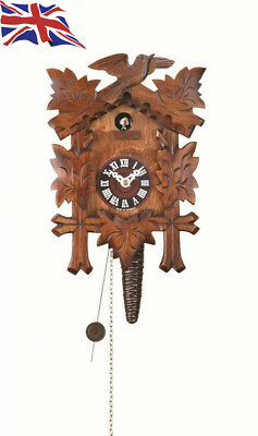 ISDD Quarter call cuckoo clock with 1-day movement Five leaves, bird TU 619 nu