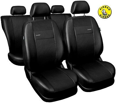 Car seat covers fit Toyota Avensis black  leatherette full set