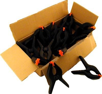 New 6 x Plastic Spring Clips 3in/76mm Clamps Tools Model Making Carpentry uk