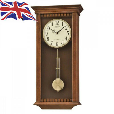 Seiko Clocks Pendulum Long Case Chiming Wall Clock QXH064B