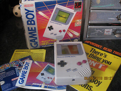 Nintendo game boy basic set box manual only no games or player vintage game boy basic set boxed vgc fandeluxe Image collections