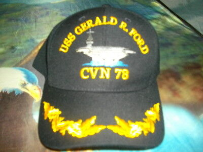 Us & Other Military Theme Caps * Uss Gerald R. Ford Cvn-78 (New)