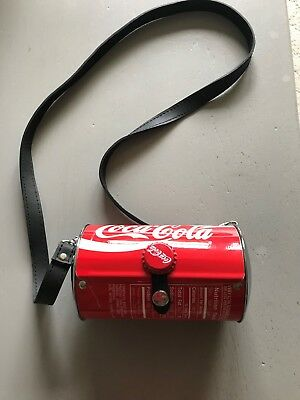 Red Classic Coca-Cola Can Purse Bag With Leather Strap