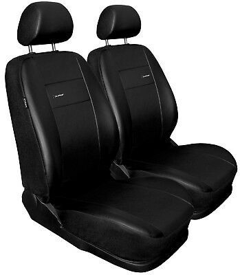 Front seat covers fit Volkswagen Caddy black  Leatherette