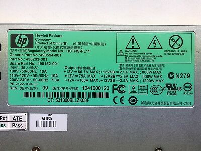 HP 1200W Power supply HSTNS-PL11 490594-001 438203-001 498152-001 Proliant G7 6