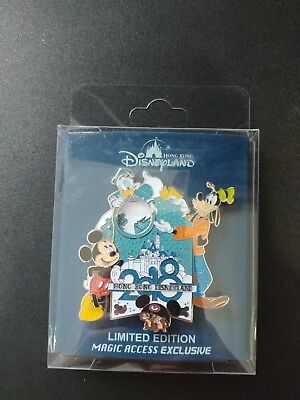 Disney Hong Kong HKDL Pin- 2018 magic access exclusive- Mickey Donald Goofy Chip