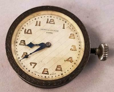 1920-30's Sandoz-Vuille Car clock in Excellent Working Condition, Recently serv.