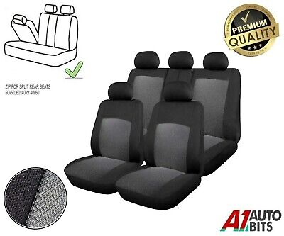 For Nissan Navara D40 Double Cab 05-14 Onwards Grey Front & Rear Seat Covers