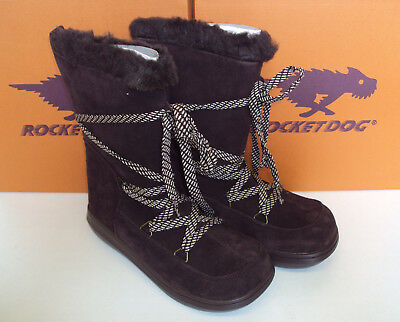 bc719470b1ca1 Rocket Dog Ladies Chocolate Suede Boots Leather Fur Snowcrush New Sizes 3 4  6