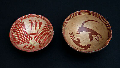 Two Antique Pre Columbian Bowls Narino - French Flea Market Find