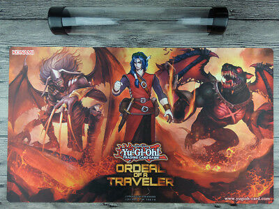 YuGiOh ORDEAL OF A TRAVELER Burning Abyss Playmat TCG Card Mat Free best Tube