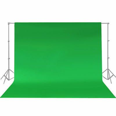 10ft Chromakey Green Screen Muslin Backdrop Photo Photography Background NEW