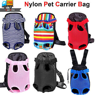 Nylon Mesh Pet Puppy Dog Cat Carrier Front Backpack Net Bag Tote Sling Carrier