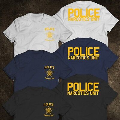 NEW Chicago NARCOTICS Police Department United States Tee T-Shirt S-3XL