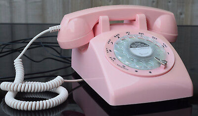 Steepletone Retro 1940s Style Telephone Rotary Dial Pink *For Spares or Repair*